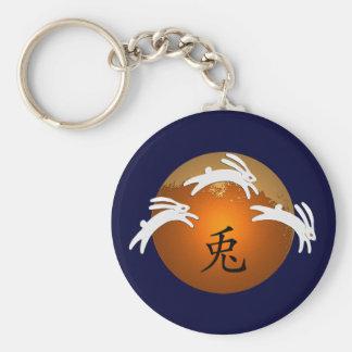 Year of Rabbit Basic Round Button Key Ring