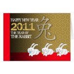 Year Of Rabbit Card Chinese Zodiac Rabbit Eating 1