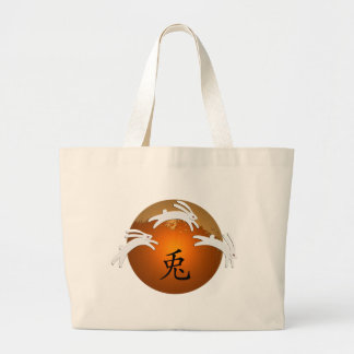 Year of Rabbit/Hare Large Tote Bag