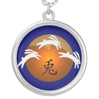 Year of Rabbit/Hare Round Pendant Necklace