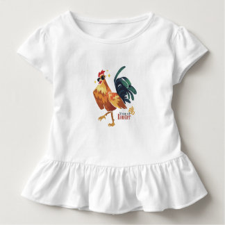 Year of Rooster, Toddler Ruffle Tee