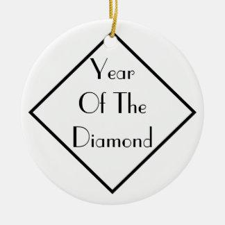 Year Of The Diamond Round Ceramic Decoration