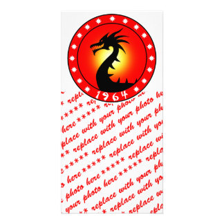 Year of the Dragon 1964 Customized Photo Card