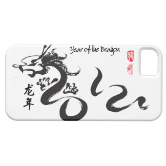Year of the Dragon 2012 Black Calligraphy iPhone 5 Covers