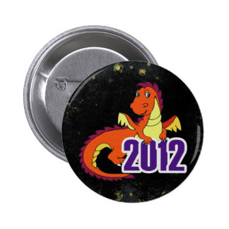 Year of the dragon 2012 chinese new year pinback button