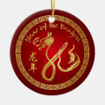 Year of the Dragon 2012 - Chinese New Year Round Ceramic Decoration