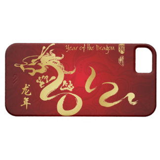 Year of the Dragon 2012 Gold Calligraphy iPhone 5 Cover