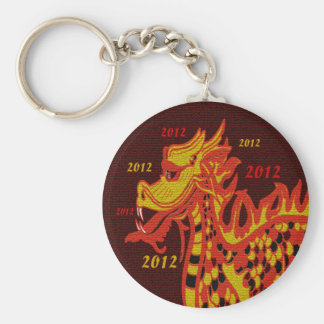 Year of the Dragon Basic Round Button Key Ring