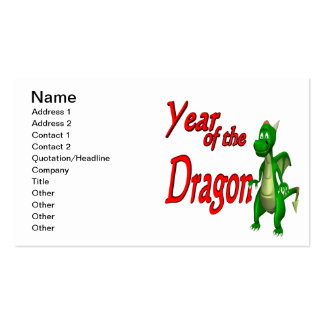 Year Of The Dragon Pack Of Standard Business Cards