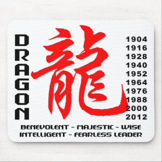 Year of The Dragon Characteristics Mousepads