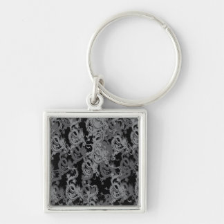 Year of the Dragon - Chinese New Year Silver-Colored Square Key Ring
