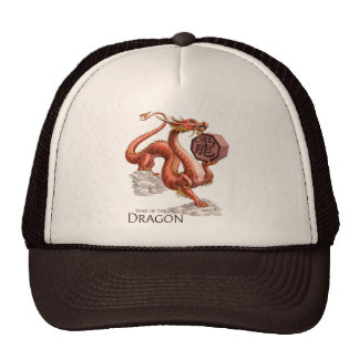 Year of the Dragon Chinese Zodiac Art Trucker Hat