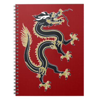 Year of the Dragon Spiral Note Book