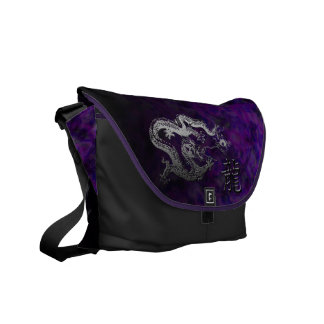 Year of the Dragon: Silver and Amethyst Messenger Bags