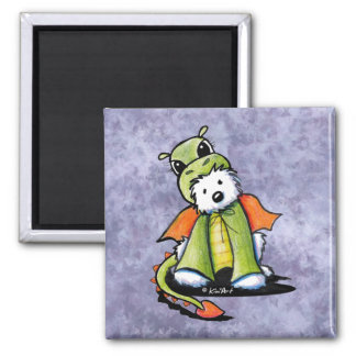 Year of the Dragon Westie Magnet