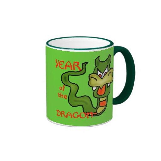 Year of the Dragon with Cartoon Dragon Coffee Mug