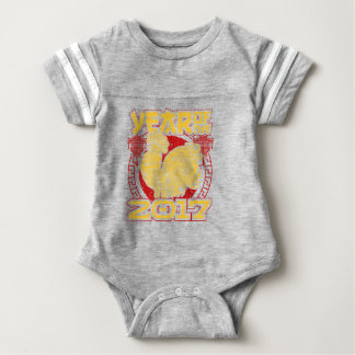 Year of the Fire Rooster 2017 Chinese Zodiac Baby Bodysuit