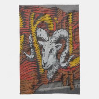 Year Of the Goat   Graffiti Kitchen Towel
