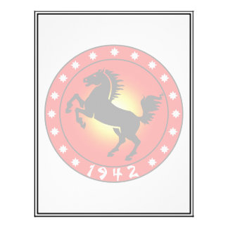 Year of the Horse 1942 21.5 Cm X 28 Cm Flyer