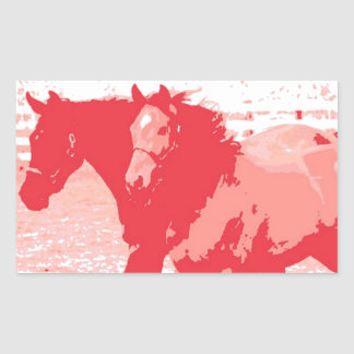 Year of the Horse Chinese New Year Rectangular Sticker