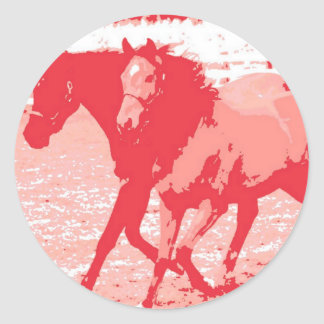 Year of the Horse Chinese New Year Round Sticker