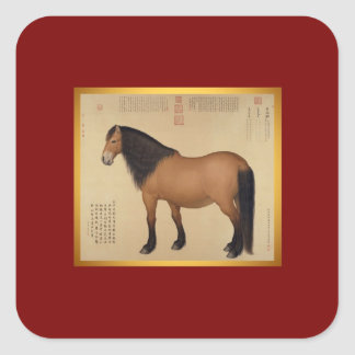 Year of The Horse Chinese New Year Square Sticker