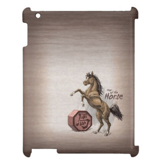 Year of the Horse Chinese Zodiac Animal Art iPad Case