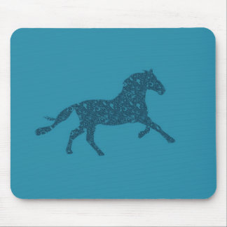 Year Of The Horse Graphic Design Mouse Mat