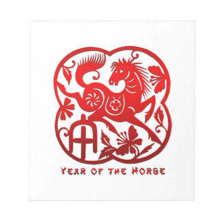 Year of The Horse Papercut Notepad