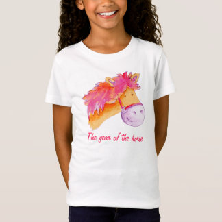 Year of the horse pink girls t-shirt