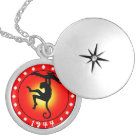 Year of the Monkey 1944 Silver Plated Necklace