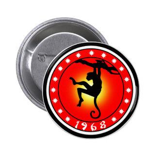 Year of the Monkey 1968 6 Cm Round Badge