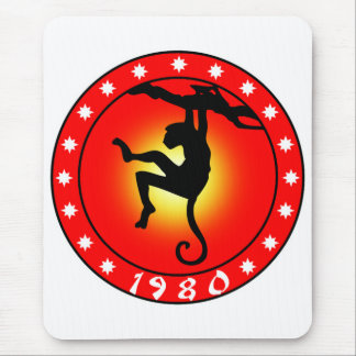 Year of the Monkey 1980 Mouse Pad