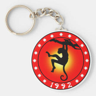 Year of the Monkey 1992 Basic Round Button Key Ring