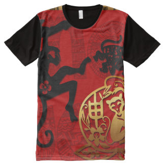 Year of the Monkey 2016 Chinese New Year All-Over Print T-Shirt