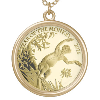 Year of the Monkey 2016 Coin Round Pendant Necklace