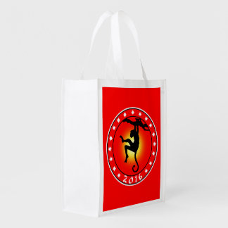 Year of the Monkey 2016 Reusable Grocery Bag