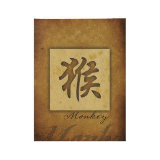 Year of the Monkey_Chinese Zodiac Wood Poster