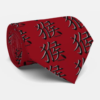 Year of the Monkey: Gold and Red Tie