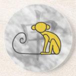 Year of the Monkey Sandstone Coaster