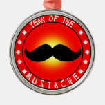 Year of the Moustache Christmas Ornaments