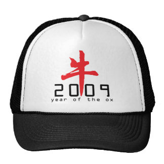 Year of The Ox 2009 Gifts Mesh Hats