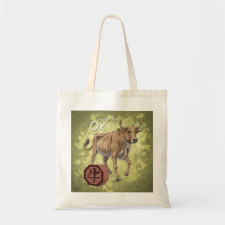 Year of the Ox Chinese Zodiac Art Budget Tote Bag
