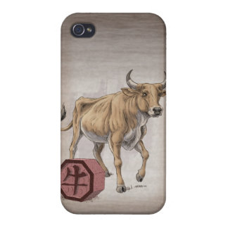 Year of the Ox Chinese Zodiac Art iPhone 4 Cases