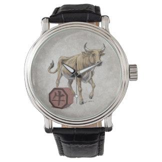 Year of the Ox Chinese Zodiac Art Wristwatch