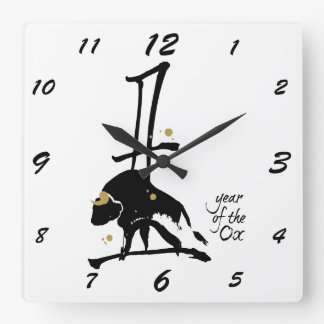 Year of the Ox - Chinese Zodiac Wall Clocks