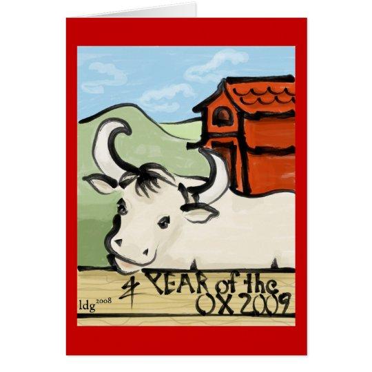 Year of the Ox Farm 2009 Card