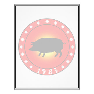 Year of the Pig 1983 Flyer Design