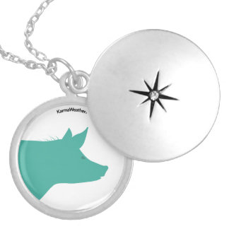 Year of the Pig (Boar) Silver Plated Necklace