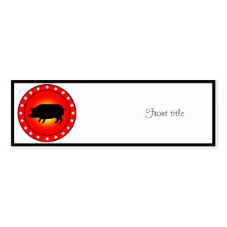 Year of the Pig Business Card Template
